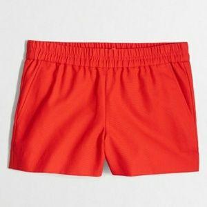 "J. Crew Red 3"" Boardwalk Pull On Shorts"